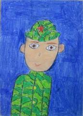 Портрет-солдата.-Чечетина-Мария